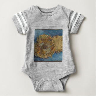 Sunflower background baby bodysuit