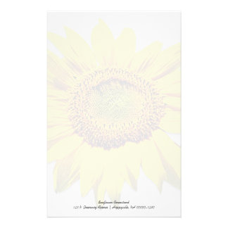 Sunflower Background Blank Custom Note Paper Stationery Design
