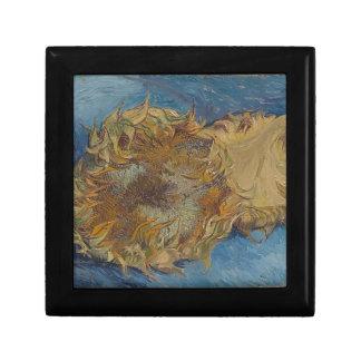Sunflower background gift box