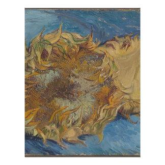 Sunflower background letterhead