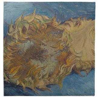 Sunflower background napkin