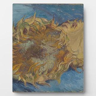Sunflower background plaque