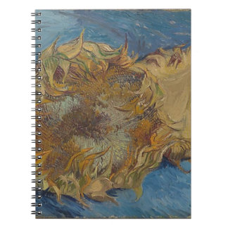 Sunflower background spiral notebook