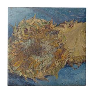 Sunflower background tile