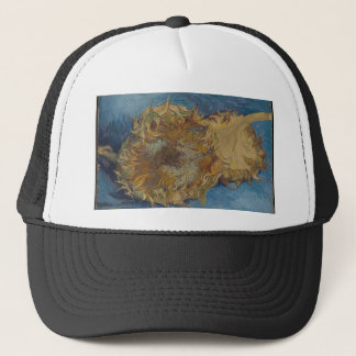 Sunflower background trucker hat