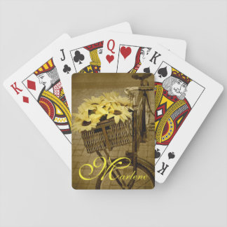 Sunflower-basket Playing Cards