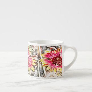 Sunflower Batik Espresso Cup