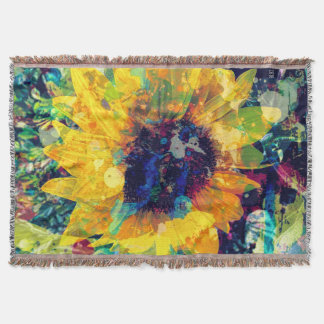 Sunflower Batik Throw