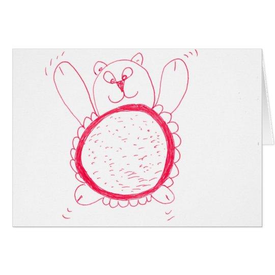 Sunflower Bear Greeting Card