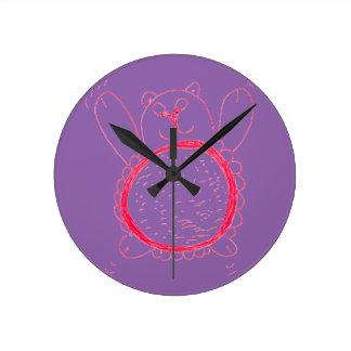Sunflower Bear Wall Clock