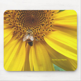 Sunflower Bee Mouse Pad