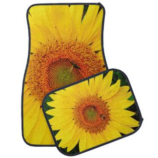 Sunflower Bees Car Mat Set