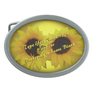 Sunflower Belt Buckle Personalize Sunflower Buckle