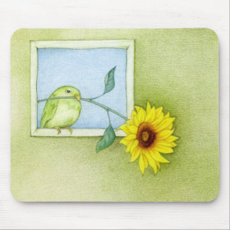 Sunflower Bird Mousepad