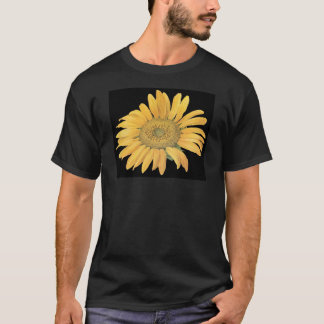 sunflower black background T-Shirt
