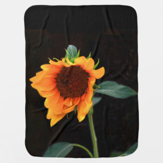 Sunflower bloom baby blankets