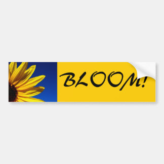 Sunflower Bloom Bumper Sticker Car Bumper Sticker