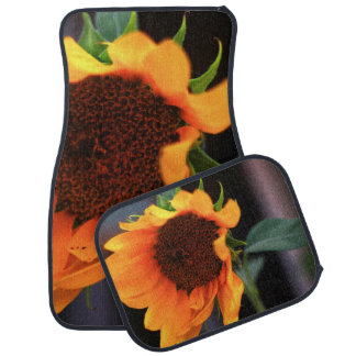 Sunflower bloom car mat