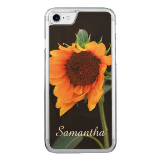 Sunflower bloom carved iPhone 7 case