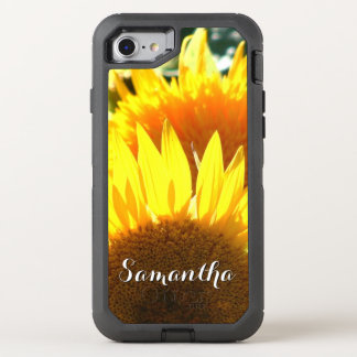 Sunflower bloom Otterbox phone OtterBox Defender iPhone 7 Case