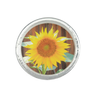 Sunflower Bloom Photo Rings