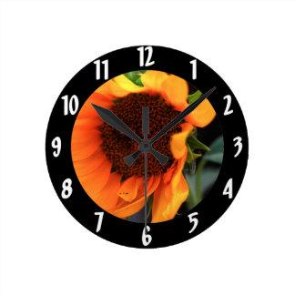 Sunflower bloom wall clocks