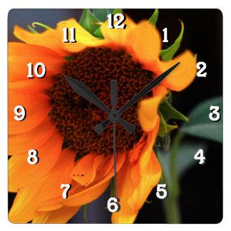 Sunflower bloom wallclock