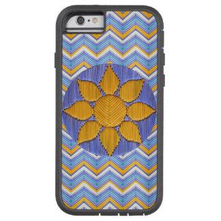 Sunflower Blue Chevron Tough Xtreme iPhone 6 Case