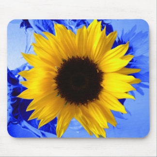 Sunflower Blue Mouse Mats