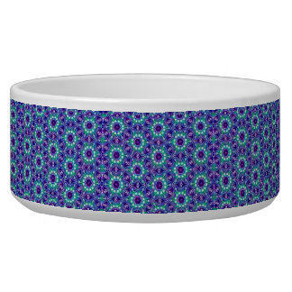 SUNFLOWER BLUE PET BOWL OR DISH-LARGE