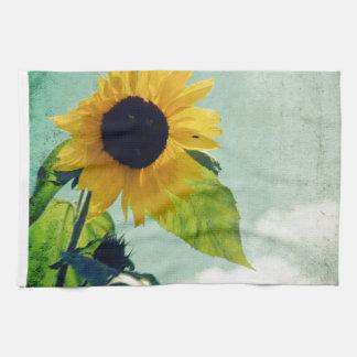 Sunflower Blue Sky Hand Towel