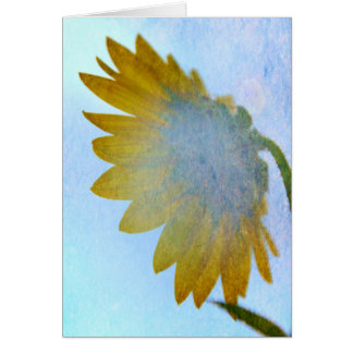 Sunflower Blues Greeting Card