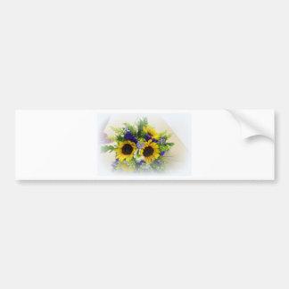 Sunflower Boquet Bumper Sticker