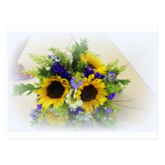 Sunflower Boquet Postcard