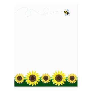 Sunflower Border Postcard