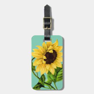 Sunflower Botanical Personalized Luggage Tag