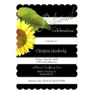 Sunflower Botanical Retirement Celebration Card