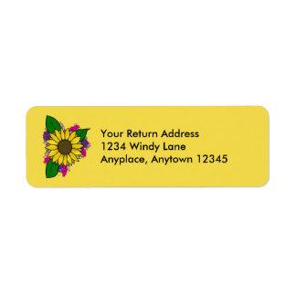 Sunflower Bouquet Address Label