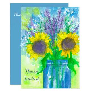 Sunflower Bouquet Birthday Party Invitation