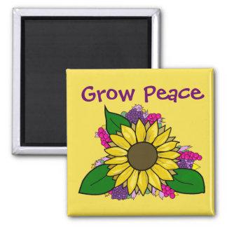 Sunflower Bouquet - Grow Peace Magnet