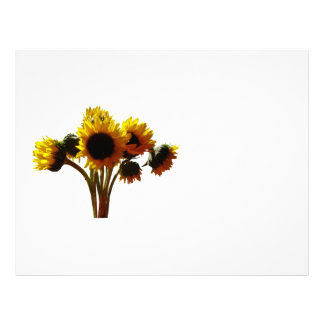 Sunflower Bouquet Letterhead