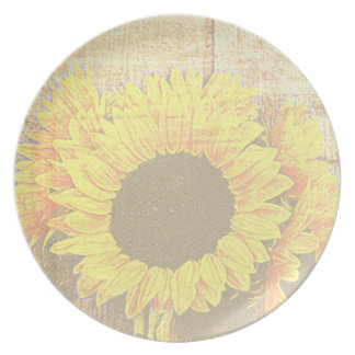 Sunflower Bouquet Plate