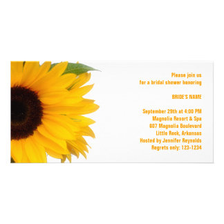 Sunflower Bridal Shower Photo Card