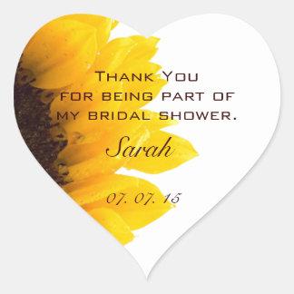 Sunflower Bridal Shower Thank You Sticker