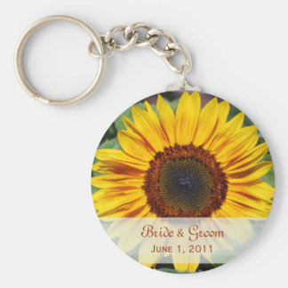 Sunflower Bride & Groom Keychain