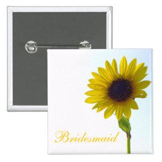 Sunflower Bridesmaid Pin