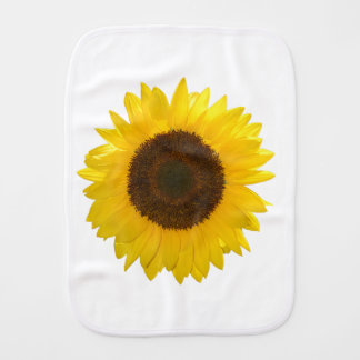 Sunflower Burp Cloth