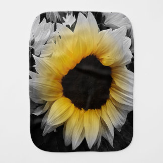Sunflower Burst Burp Cloth