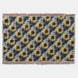 Sunflower Burst Throw Blanket