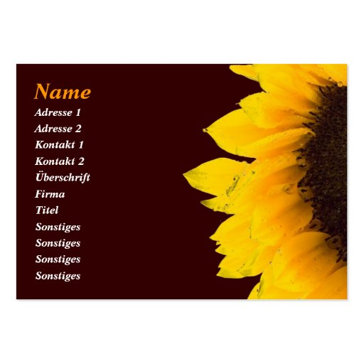 Sunflower Businesses Card/sunflower visiting card Business Card Template